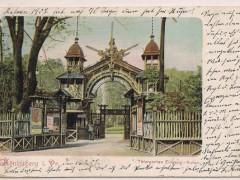 Центральный вход в зоопарк 1909 г.