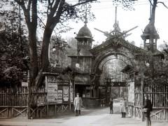 Фотография. Центральный вход в зоопарк. 1903 г. Подарена «Обществом по охране и исследованию сов» (Германия).