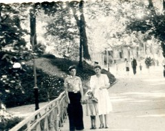 Центральный пешеходный мост зоопарка 1950-е гг. Из частного архива.